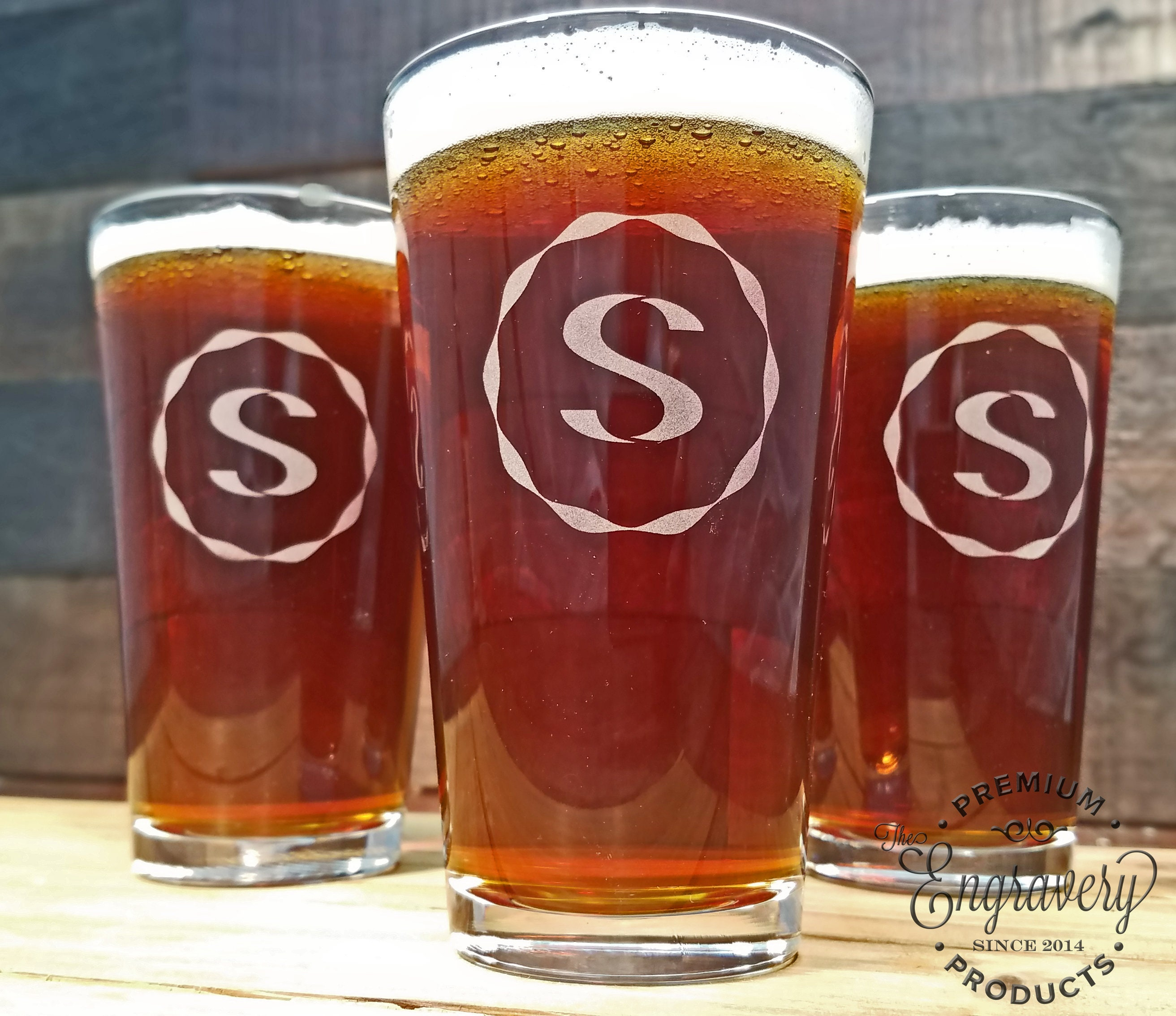 Fathers Day Gift Ideas, Monogrammed Beer Glass, Personalized Beer ...