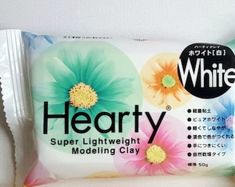 HEARTY 50 g white clay to create flowers decorations jewelry