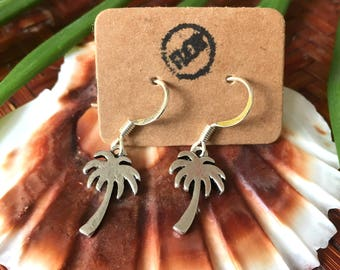 Palm tree earrings - Earrings with small palm tree charms