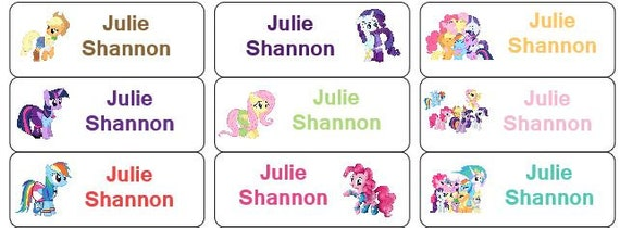 30 personalized waterproof name labels my little pony labels etsy