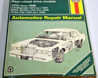 1989 lincoln town car repair manual