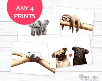 Any 4 Prints Special Offer! - choose any 4 prints from this shop to save 25-40%