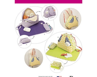 Simplicity 8031 Convertible Diaper Bags and Changing Pads.