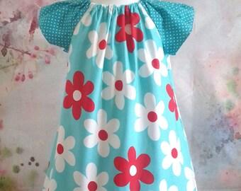 Little Girls Dress, Peasant Dress, Floral Dress, Children's Dress, Cotton Dress, Summer Dress, Toddler Dress,  Age 3/4 Years