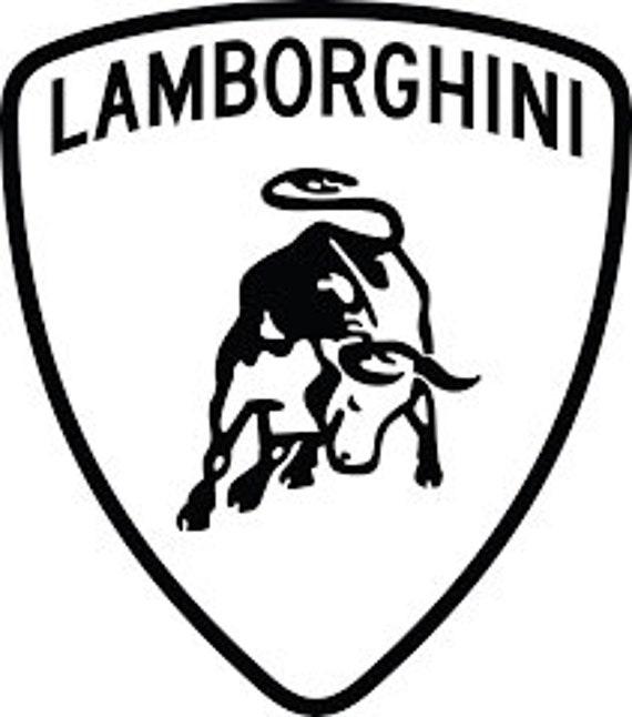 Terrcorp Lamborghini Logo Vinyl Decal For Cars Laptops Sticker