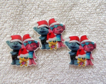 POPPY LOT of 15 Trolls flat resins...1 of each style as picture