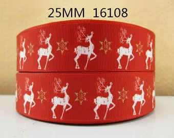 Red Nose Reindeer Christmas Grosgrain Ribbon  x 1 Metre Sewing//Crafts//Cake