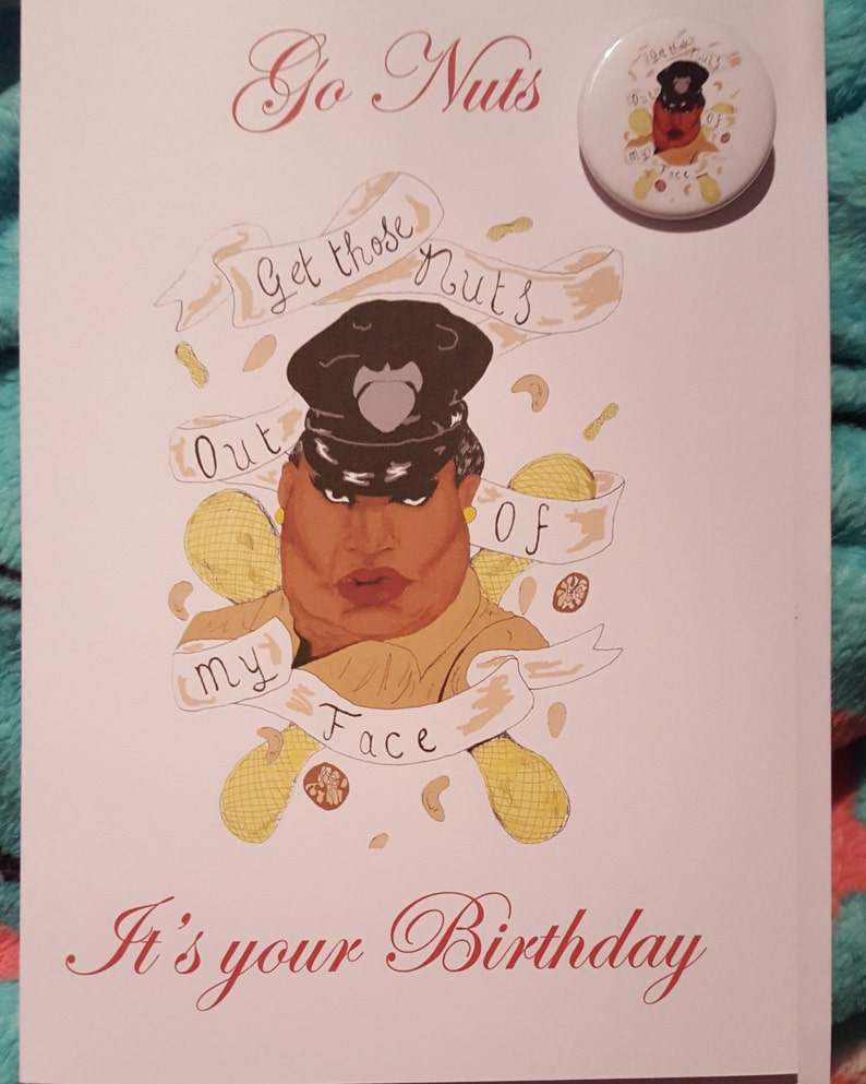 Latrice Royale Drag Queen Birthday Card And Badge