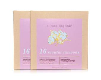 32x Regular Organic Cotton Tampons
