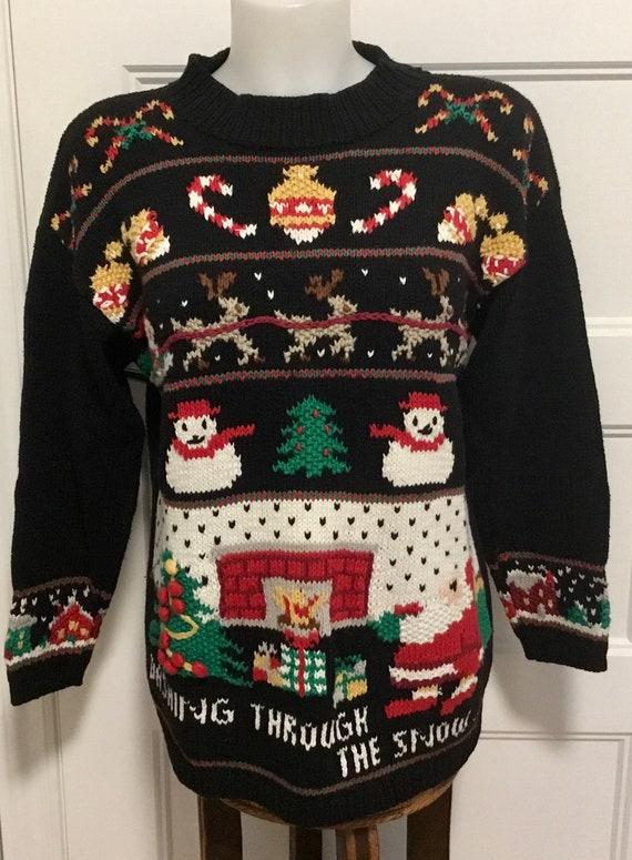 Vintage Christmas Sweater, Christmas Clothing,