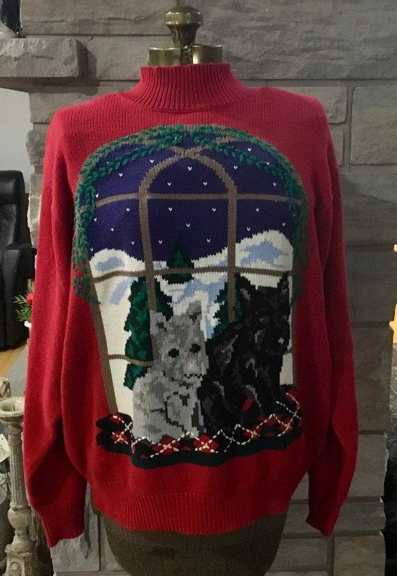 Vintage Tabi International Christmas Sweater, Vint