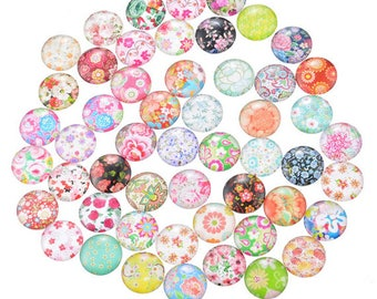 10 Emoji Faces Mixed Round Glass Cabochons Flat Back Jewellery Making 12mm 059