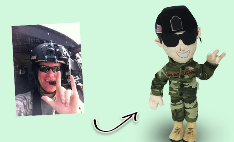 Custom military plush Doll