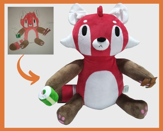 Brittany Stuffed Animal, Stuffed Animal From Drawing Budsies Custom Plush From Etsy