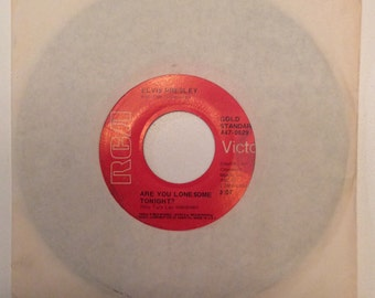 Elvis Presley and The Jordanaires Are You Lonesome Tonight and I Gotta Know Vintage Vinyl 45 1969
