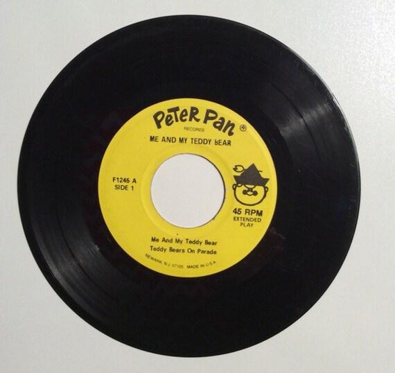 Me And My Teddy Bear Vintage Vinyl 45 Record Album 1962 Etsy