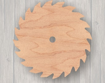 Tags Ornaments Laser Cut #1587 Silhouette Wooden Cutout Shape Saw Blade