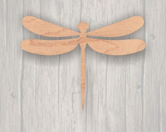 Dragonfly. Unfinished wood cutout.  Wood cutout. Laser Cutout. Wood Sign. Sign blank. Ready to paint. Door Hanger.