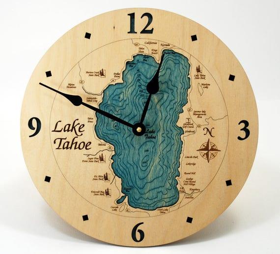 Wooden Table Clock Birch Wood Clock Handmade Free Shipping !