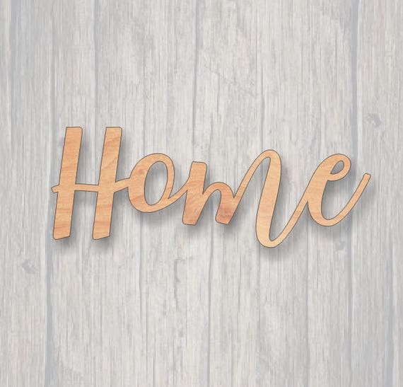Home  Unfinished wood cutout  Word cutout  Laser Cutout  Wood Sign  Sign  blank  Word  Wood script, wooden script