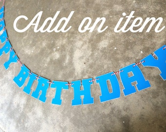 Boys Happy Birthday party banner Happy Birthday banner custom party banner kids banner custom party banner boys banner - ADD ON PRICING