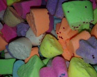 20 x Mini Glitter Bath Bombs, Rainbow, Glitter, Bright, Multi coloured, Fizz, Vegan