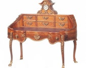 1 12 Scale JBM Miniature French Louis XV Bombe Desk