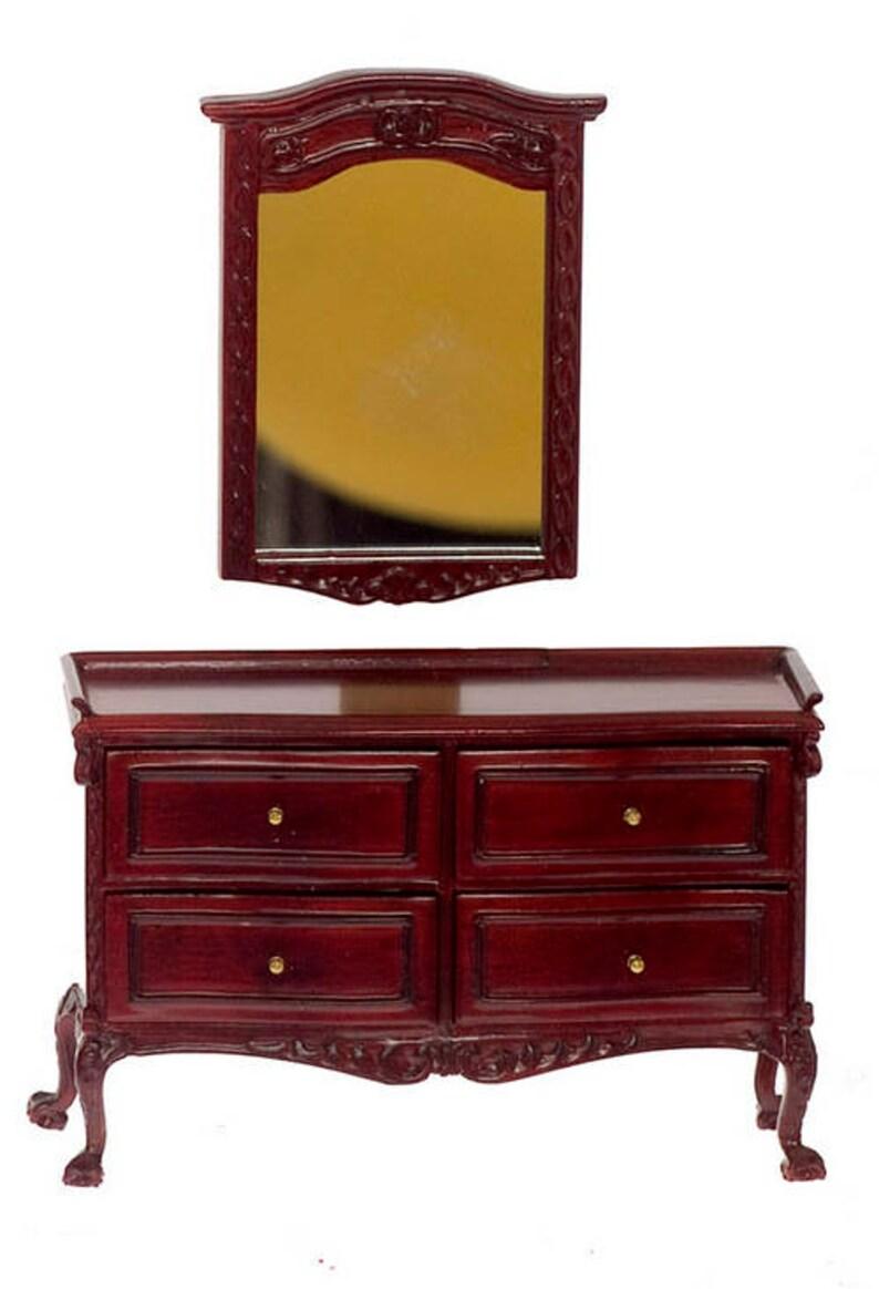 1:12 Scale Miniature Bespaq Chateau Lorraine Bedroom Collection MahoganyWalnut