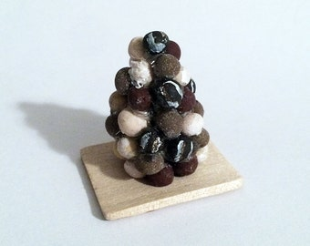 1:12 Scale Miniature Truffle Cake Pop Tower