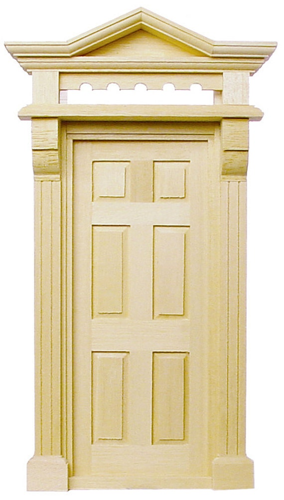 Delightful 1:12 Scale Miniature Interior Victorian Door With Block U0026 Trim | Etsy