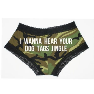 Personalize a military army green cheeky panty FAST SHIPPING *