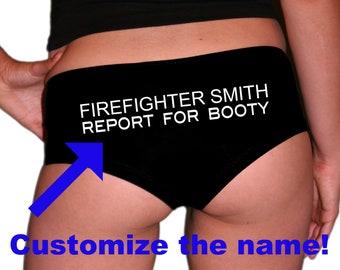 Custom Firefighter Panties. Firefighter Wife. Fireman Girlfriend. Firefighter Husband. Firefighter Boyfriend. Firefighter Gift.