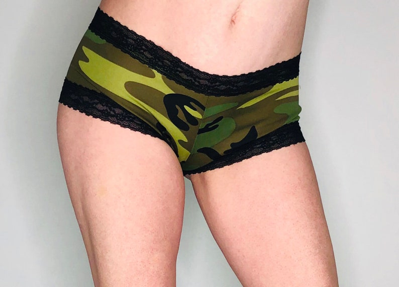 Lace Camo Panties Army Gift Marines Gift Custom Military Underwear Navy Gift Air Force Gift Welcome Coast Guard Camouflage Underwear