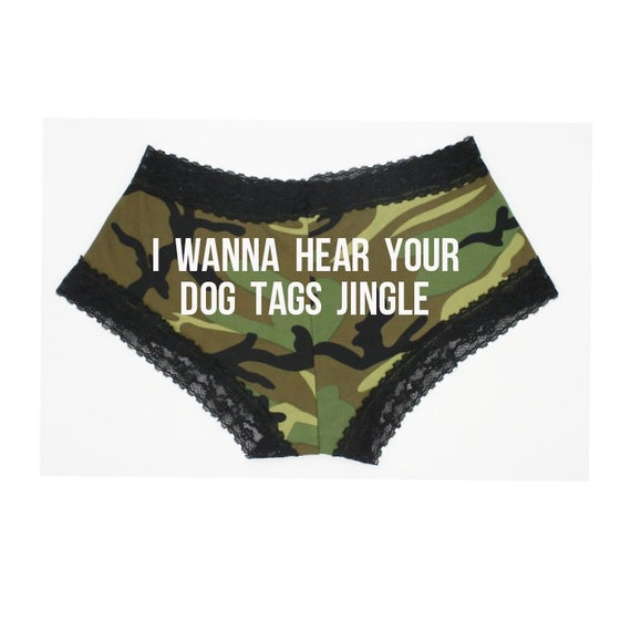 new style of 2019 cheap high fashion Military Underwear. Lace Camo Panties. Camouflage Underwear. Army Gift.  Navy Gift. Air Force Gift. Marines Gift. Coast Guard. Dog Tags.