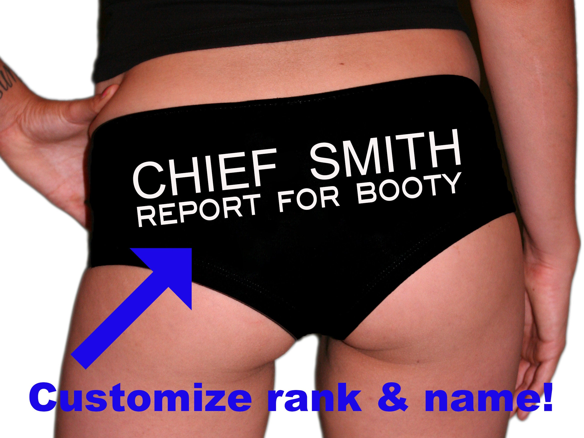 Underwear. Thong Fireman Gift Firefighter Wife Custom Firefighter Gift Panties Firefighter Husband Report For Booty Firefighter