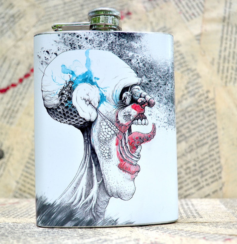 Scary Stories To Tell In The Dark Inspired Flask by Award image 0
