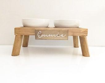 Raised Ceramic Dog Bowl Etsy
