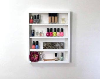 Wall Mounted Makeup Shelf | Nail Polish Shelf | Makeup Organizer | Gifts  For Her | Essential Oils Shelf | Bathroom Storage | Gifts For Her