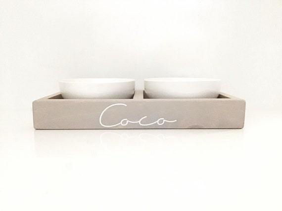 pet bowl stand ceramic dog food stand food water pet bowls etsy