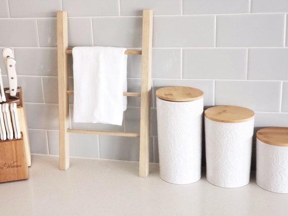 Mini Dish Towel Holder | Country Kitchen Farmhouse Dish Rag Stand | Mini  Tea Towel Rag Holder | Dishcloth Ladder Holder | Tea Towel Holder