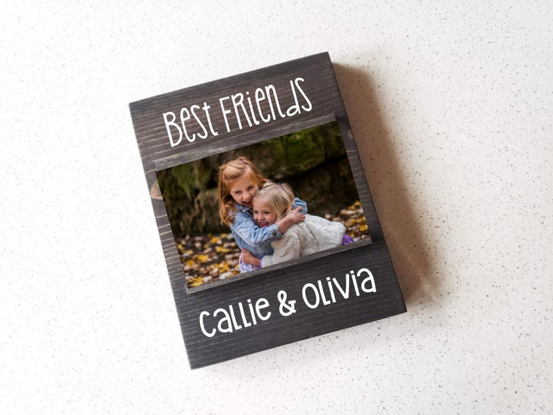 personalized wood pic frame sentimanetal gift for friend best friends picture frame 4x6 photo frame bestie gift roommate gift