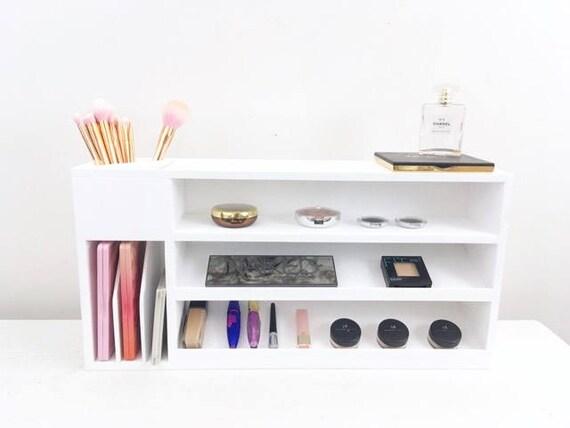Makeup Shelf Makeup Storage Wall Mounted Makeup Organizer Etsy