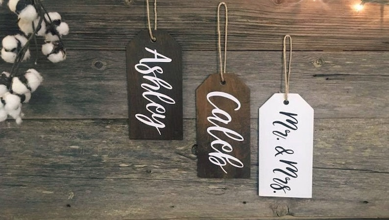 Christmas Stocking Tags | Large Wooden Stocking Tags | Personalized  Stocking | Stocking tags | Christmas Labels | Christmas Gift Tags