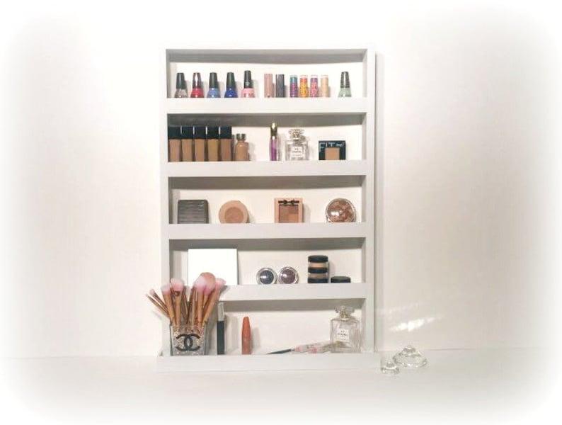 Charmant Wall Mounted Makeup Shelf | Makeup Organizer | Makeup Station | Bathroom  Organizer | Makeup Vanity | Gifts For Women | Teen Gift | Cosmetics