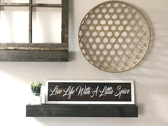 live life with a little spice kitchen signs kitchen wall etsy