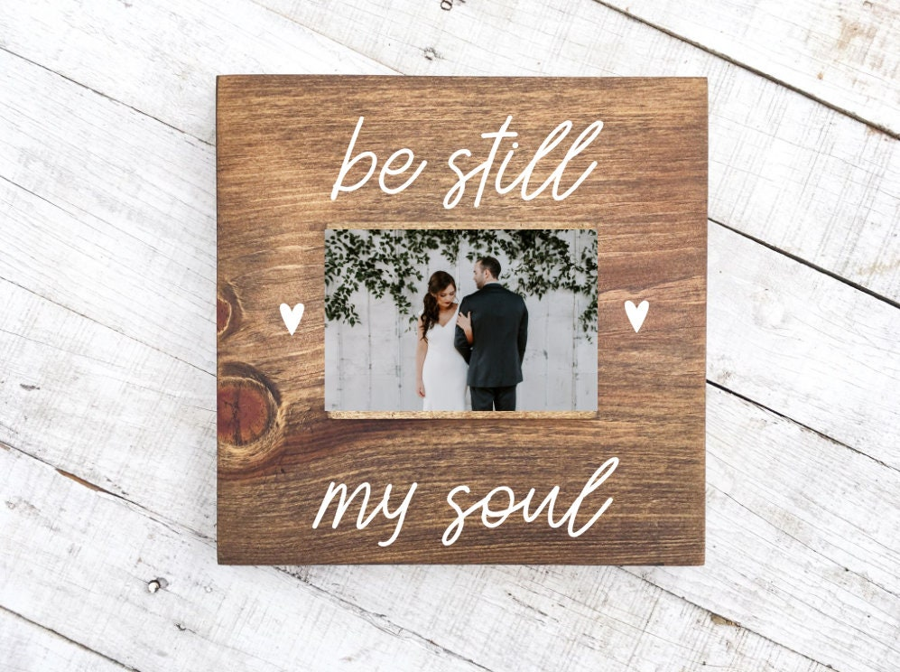 zoom be still my soul picture frame