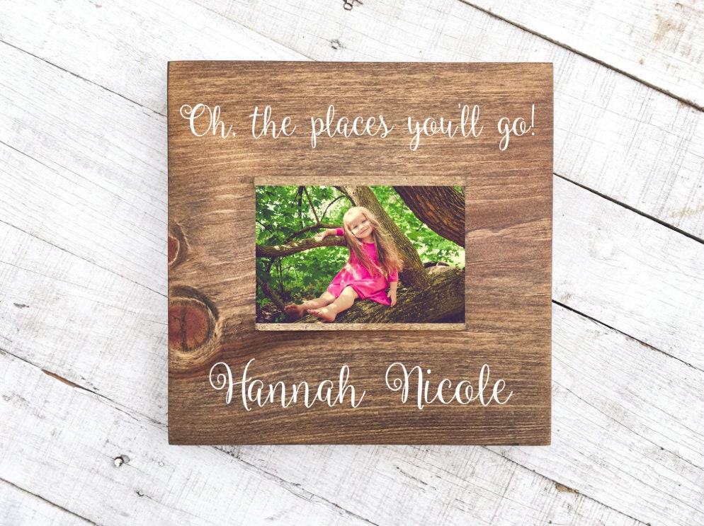 oh the places you\'ll go 4 x 6 picture frame | Etsy