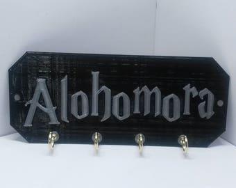 """Alohomora Harry Potter Key Holder Key Rack Key Organizer Jewelry organizer 6"""" x 2.5"""""""