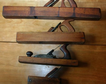 Set of 4 Antique wooden block hand planes