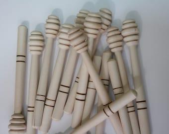Wooden spoon for honey, Honey Dipper (1pc) - wood -Randomly Picked